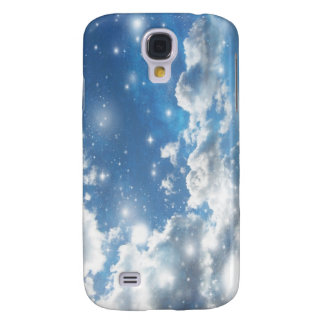 Sky Clouds Sparkles Galaxy S4 Cover