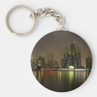 Sky Cloudy City Night Keychains