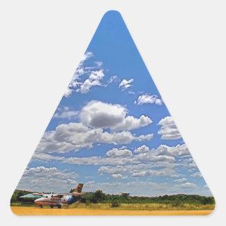 Sky Cloudy Return Triangle Sticker
