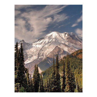 Sky Cold Peaceful Mountians Personalized Letterhead