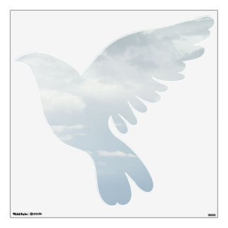 Sky Covered Dove Wall Sticker