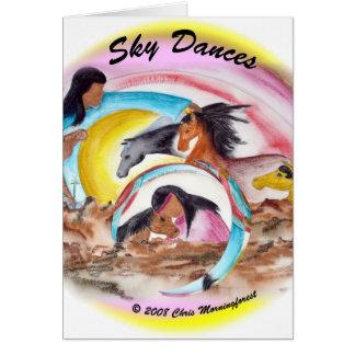Sky Dances Greeting Card