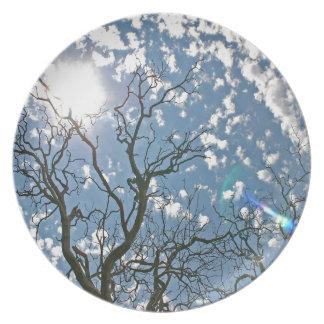 Sky Dead Tree Illuminations Party Plate