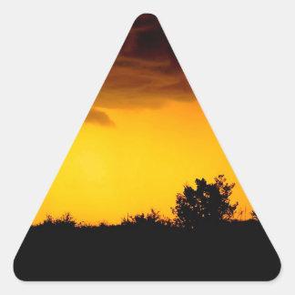 Sky Disturbed View Triangle Stickers