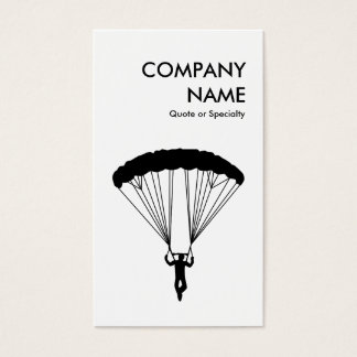 sky dive : black and white business card
