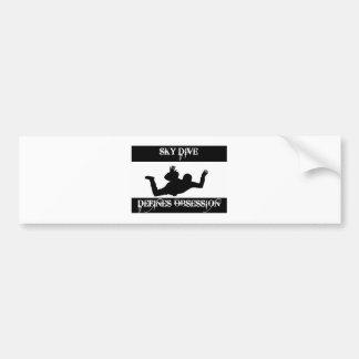 sky dive design bumper sticker