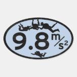 Sky Dive Gravity Oval Sticker