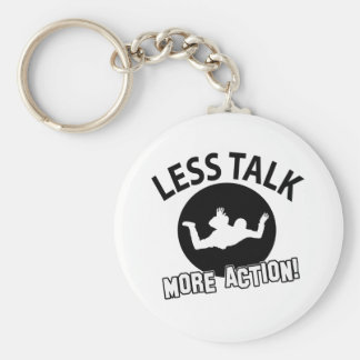 sky dive more awesome basic round button keychain