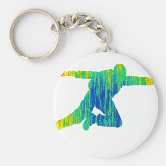 SKY DIVE OF BASIC ROUND BUTTON KEYCHAIN