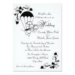 "Sky Dive Wedding 5"" X 7"" Invitation Card"