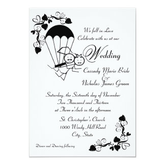 Sky Dive Wedding Card