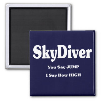 Sky Diver 2 Inch Square Magnet