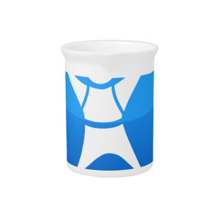 Sky Diver Icon Drink Pitcher