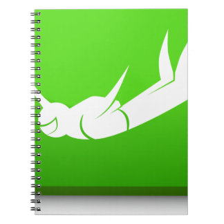 Sky Diver Icon Notebook