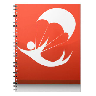 Sky Diver Icon Spiral Notebook