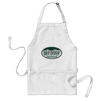 sky diver license oval adult apron