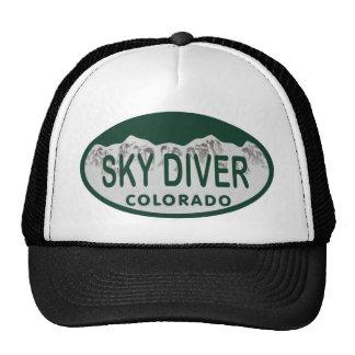 sky diver license oval hat