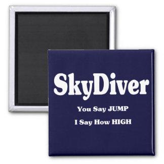 Sky Diver Refrigerator Magnet
