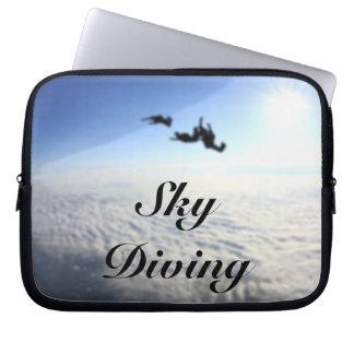 Sky Diving 10 Inch Laptop Sleeves
