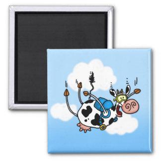 sky diving cow no txt magnet