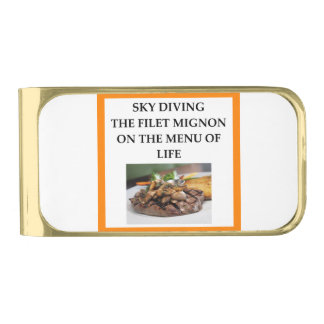 sky diving gold finish money clip