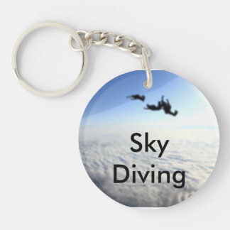 Sky Diving Hobby Keychain