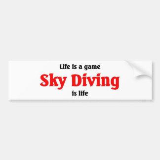 Sky Diving is Life Car Bumper Sticker