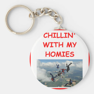 sky diving key chains
