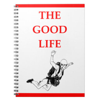 sky diving notebook