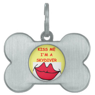 sky diving pet ID tags
