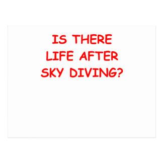 sky diving postcard