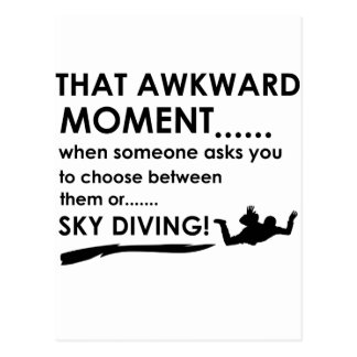 Sky Diving Sports Designs Postcard