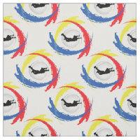 Sky Diving Tricolor Sport Emblem Fabric