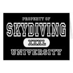 Sky Diving University Dark Greeting Card