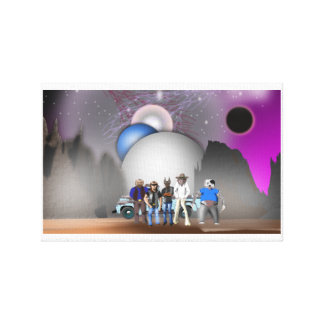 Sky Dogs - Wrapped Canvas Gallery Wrap Canvas