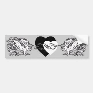 Sky Dragon Black and White Car Bumper Sticker