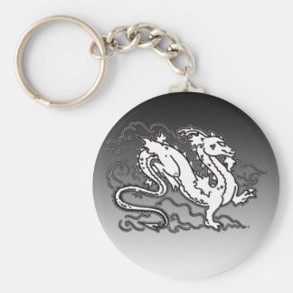 Sky Dragon Black and White Key Chains