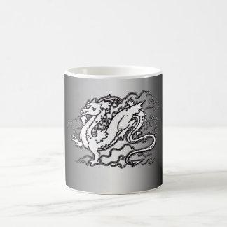 Sky Dragon Black and White Magic Mug