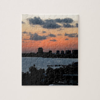 Sky Early City Light Jigsaw Puzzle