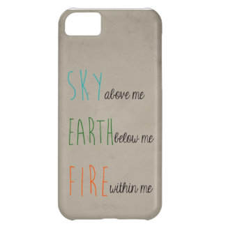 Sky, Earth, & Fire iPhone 5C Cover
