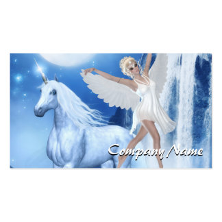 Sky Faerie Asparas and Unicorn Double-Sided Standard Business Cards (Pack Of 100)