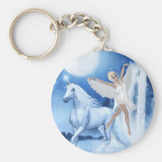 Sky Faerie Asparas and Unicorn Keychain