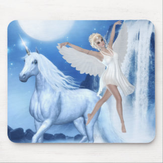 Sky Faerie Asparas and Unicorn Mouse Pad
