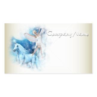 Sky Faerie Asparas and Unicorn Vignette Business Card