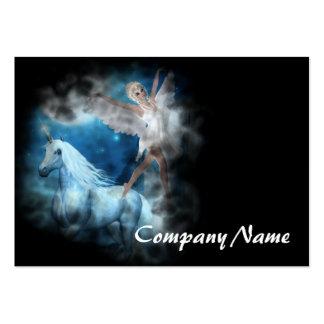 Sky Faerie Asparas and Unicorn Vignette Business Card Templates