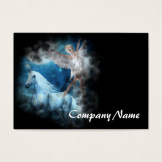 Sky Faerie Asparas and Unicorn Vignette Business Card