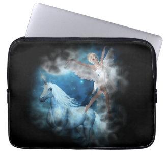 Sky Faerie Asparas and Unicorn Vignette Laptop Sleeves