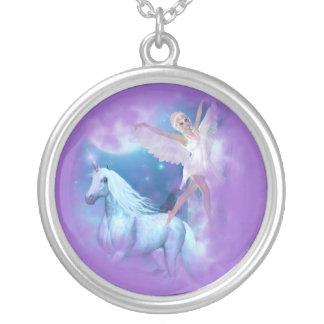 Sky Faerie Asparas and Unicorn Vignette Necklaces