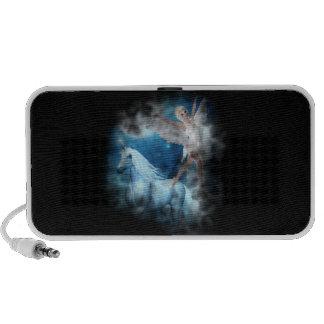 Sky Faerie Asparas and Unicorn Vignette iPod Speakers