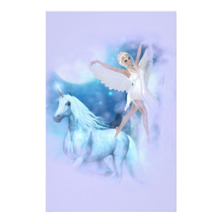 Sky Faerie Asparas and Unicorn Vignette Stationery